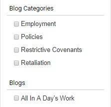 Blog Categories Option 1